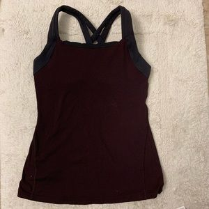 Lucy sports tank with built in bra, size S